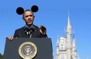 Obama with Mouse Ears