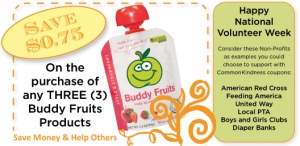 Buddy Fruits with NonProfit CommonKindness Coupon