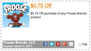 Froose $0.75 Printable Coupon