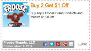 Froose $1.00 Printable Coupon