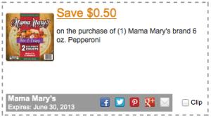 Mama Mary's $0.50 Printable Coupon