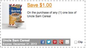 Uncle Sam Cereals