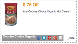 Country Choice Organic Coupon