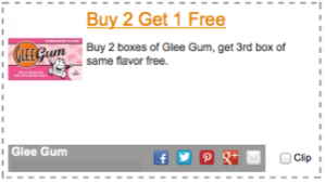 Glee Gum Coupon