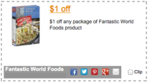 Fantastic World Foods Coupon