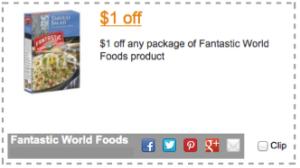 Fantastic World Foods Coupon