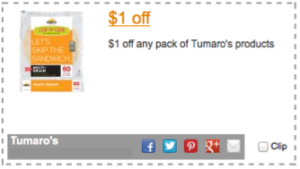 Tumaro's Coupon