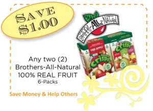 Bros Intl Fruit 6 packs CommonKindness Coupon