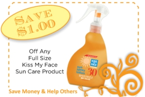 Kiss My Face Sun Care CommonKindness Coupon