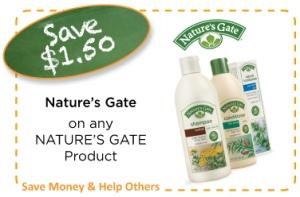 Natures Gate Coupon