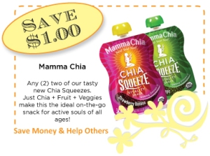 Mamma Chia Chia Squeeze NEW CommonKindness Coupon