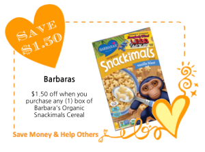 Barbaras Snackimals LoveWarmth CommonKindness Coupon