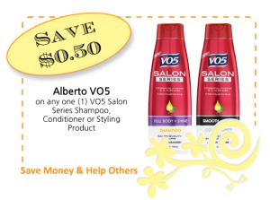 Alberto VO5 Salon Series CommonKindness coupo