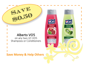 Alberto VO5 Save $0.50 on 2 CommonKindness coupon