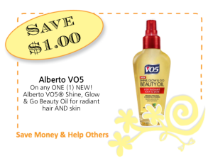 Alberto VO5 Beauty Oil CommonKindness coupon