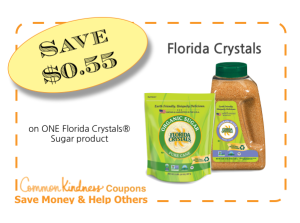 Florida Crystals Organic Sugar CommonKindness Coupon