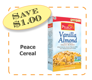 Peace Cereal Non-GMO CommonKindness Cereal coupon