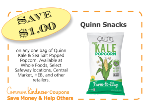Quinn Snacks CommonKindness coupon